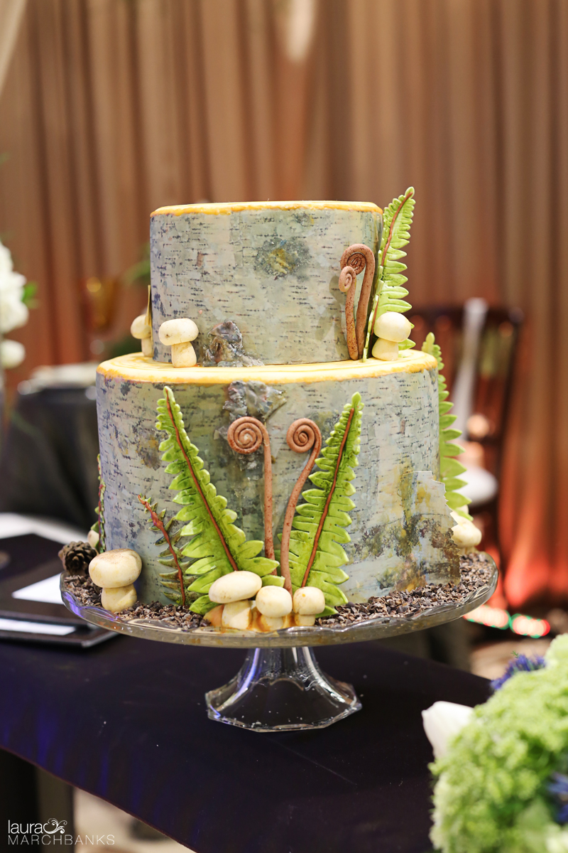 tree trunk cake by tallant house photo by laura marchbanks