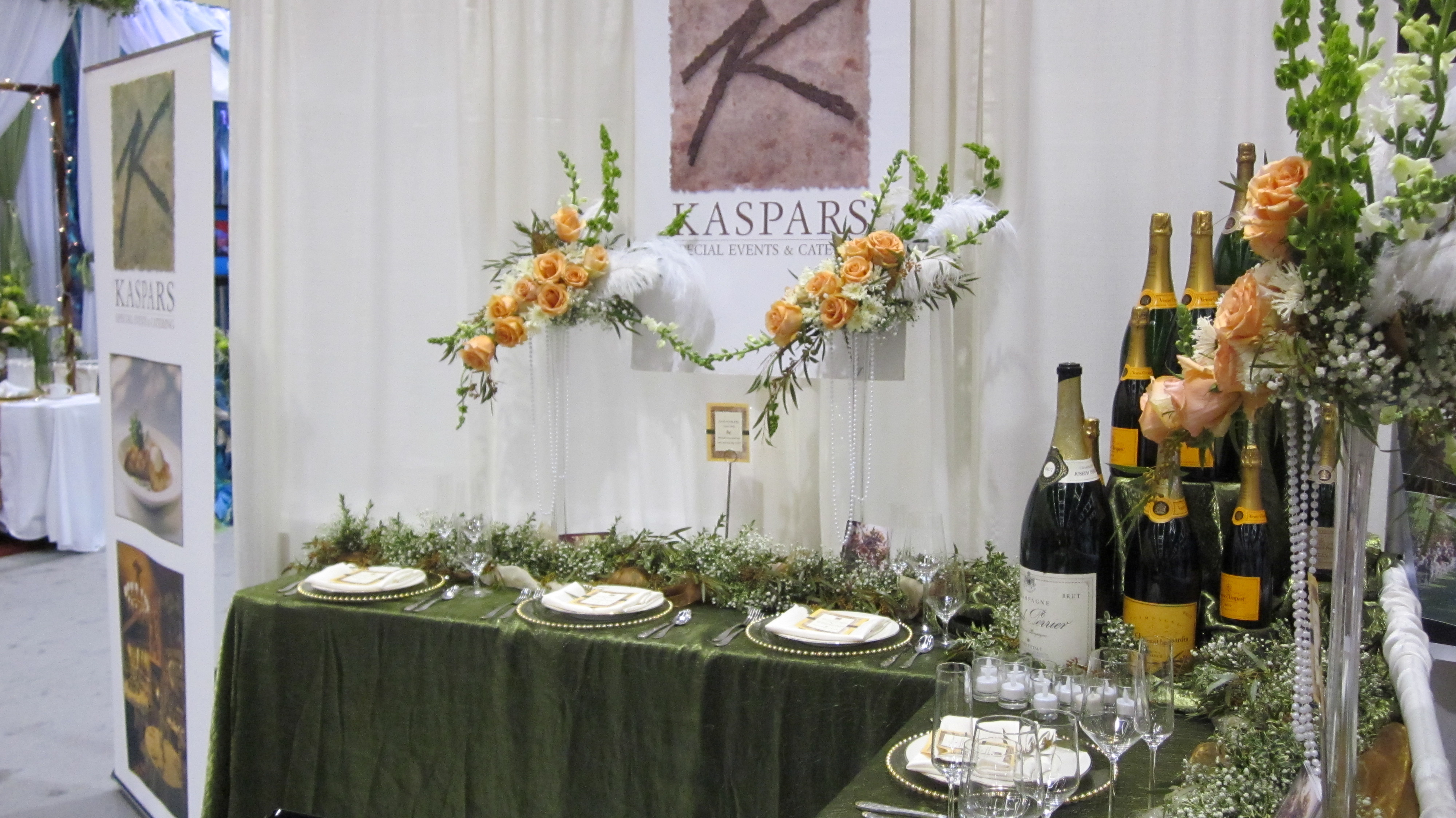 image of wedding show booth