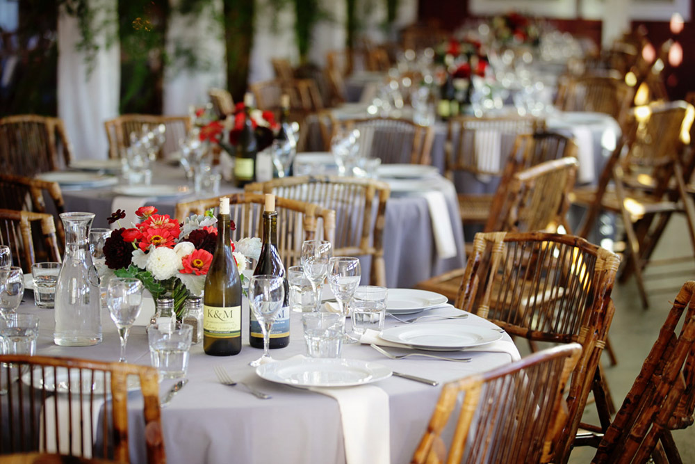 Greenbank Farm Whidbey Island wedding reception decor and flowers by Vases Wild