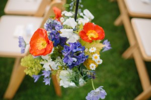 aisle flowers for Whidbey Island wedding