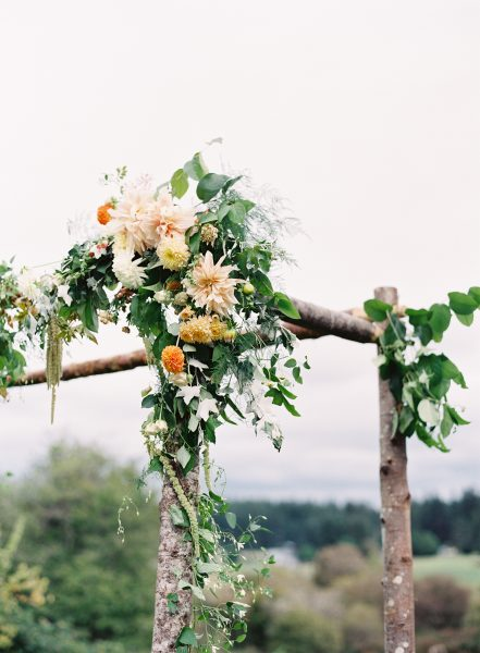 Wedding Arbor Decoration Detail