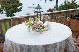 Whidbey Island beach theme wedding table decorations by Vases Wild