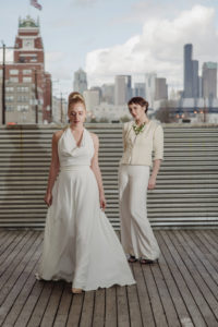 lesbian wedding fashion by French Knot Couture