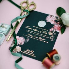 Grey & Cake makes beautiful wedding invitations and stationary