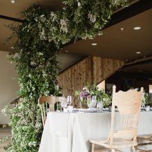 Wedding Arbor and Floral Installation for Whidbey Island Weddings