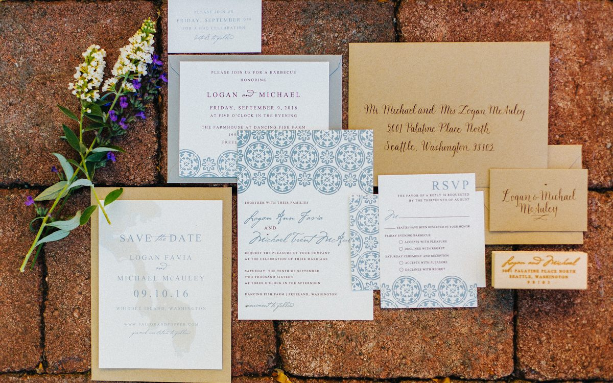 Wedding Invitations and RSVP trackers Tobey Nelson Events Design