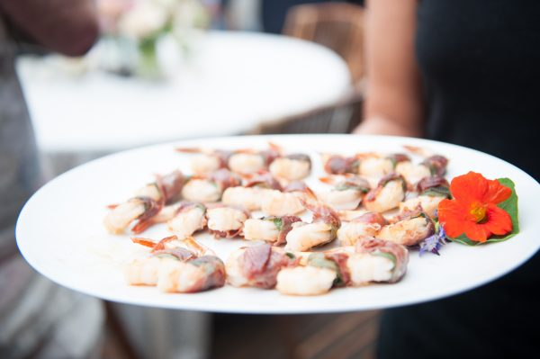 Appetizers by Orchard Kitchen for Whidbey Island rehearsal dinner