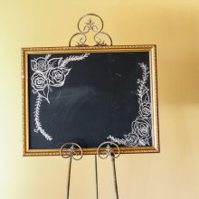 Whidbey Island wedding rentals Chalkboard sign