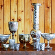 Whidbey Island wedding rentals mercury glass collection