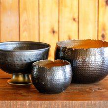 Whidbey Island wedding rentals Copper bowls