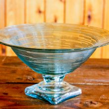 Whidbey Island wedding rentals Seaglass compote vase