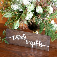 Whidbey Island wedding rentals cards and gifts sign