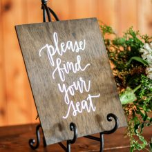 Whidbey Island wedding rentals seating sign