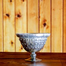 Whidbey Island wedding and event rentals | Hobnail Mercury Glass Compote Vase