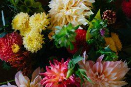 Locally grown wedding flowers