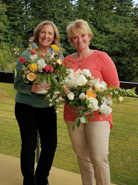 friends at flower workshops