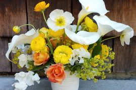 Summer flower arrangement for flower delivery