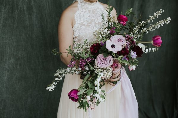 Student bridal bouquet by Wild Child Flower Co from Whidbey Flower Workshop