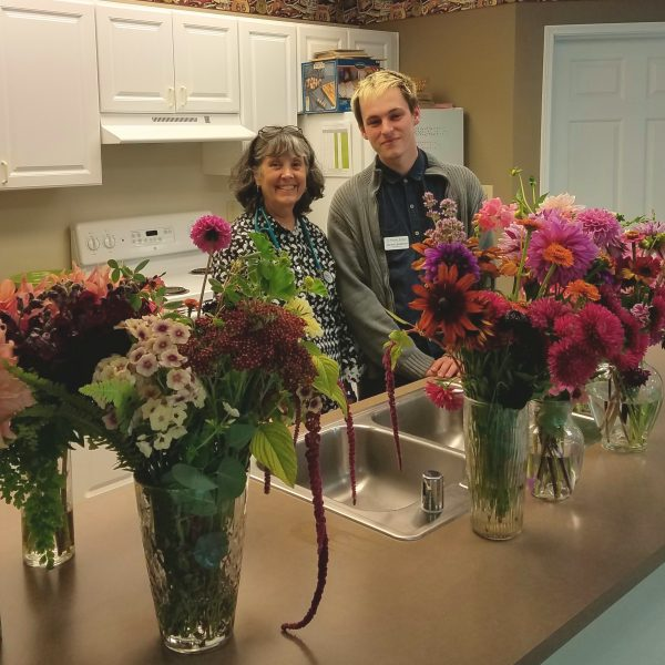 fresh cut flowers donated to local retirement home